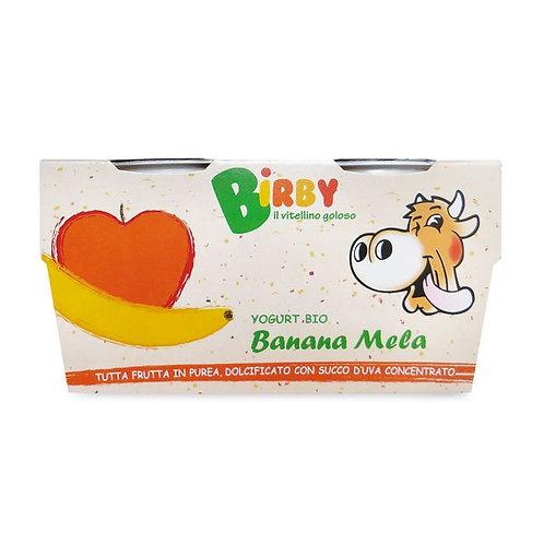 Yoghurt Birby Banana & Apple 2x115g Birby