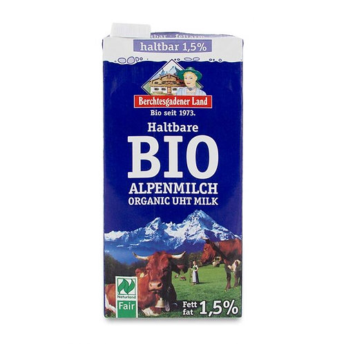 UHT Semi Skimmed Milk 1.5% 1L Berchtesgadener Land