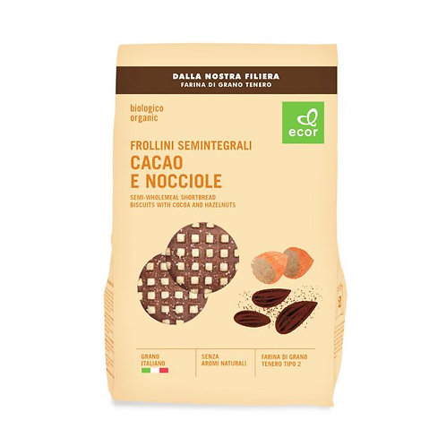 Semi-Wholemeal Shortbread Biscuits with Cocoa & Hazelnuts 350g