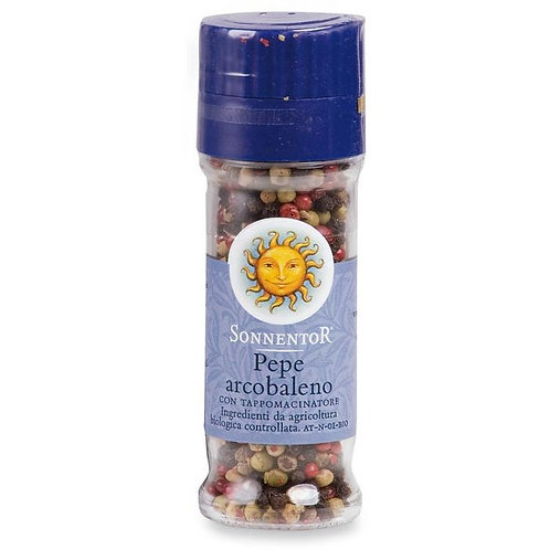 Mixed Peppercorns with Grinder Cap 30g Sonnentor
