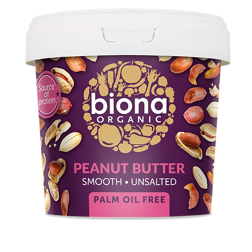 Smooth & Unsalted Peanut Butter 1kg Biona