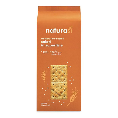 Semi-Wholemeal Wheat Salted Crackers with Extra Virgin Olive Oil 500g NaturaSi
