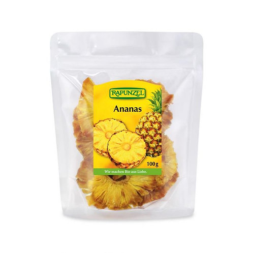 Pre-packed Dried Pineapple 100g Rapunzel