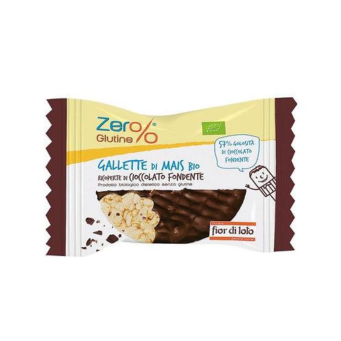 Dark Chocolate Covered Corn Cakes 32g Fior di Loto