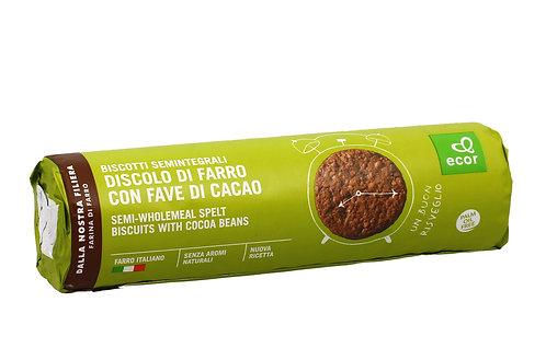 Semi-Wholemeal Spelt Biscuits with Cocoa Beans 250g