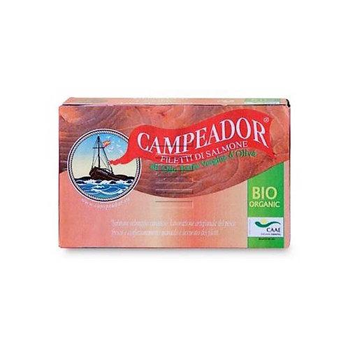 Salmon Fillets in Extra Virgin Olive Oil 120g Campeador