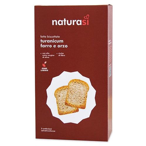 Semi Wholemeal Triticum Turanicum, Spelt & Barley Rusks 400g NaturaSi