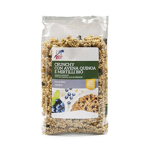 Crunchy Muesli with Oat Flakes and Blueberries 375g La Finestra Sul Ciel