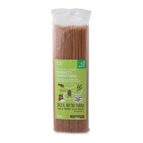 Semi Wholemeal Spelt Spaghetti 500g Ecor