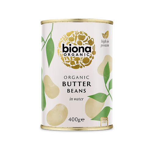 Canned Butter Beans in Water 400g Biona