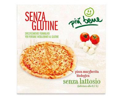 Frozen Gluten & Lactose Free Pizza Margherita 330g Piu Bene