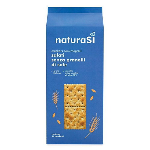 Semi-Wholemeal Wheat Crackers without Salt on Surface 500g NaturaSi