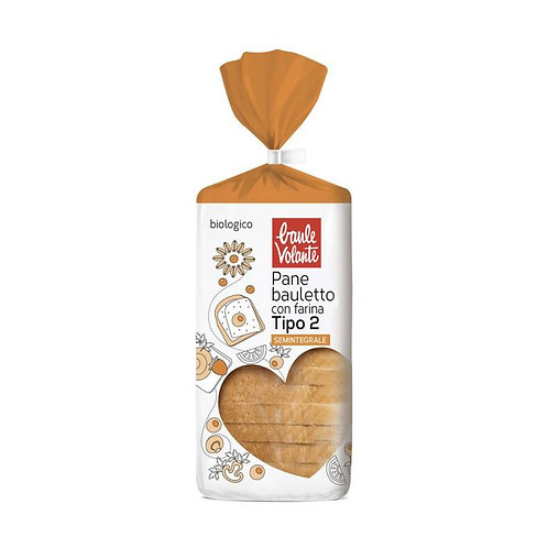 """Sliced Semi-Wholemeal Wheat """"Type 2"""" Loaf 400g Baule Volante"""