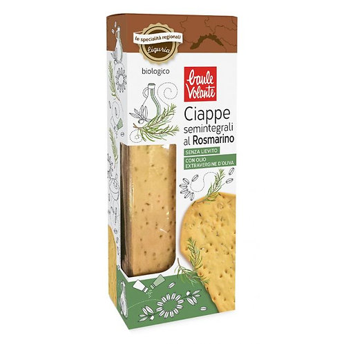 Semi-Wholemeal Wheat Ciappe with Rosemary 150g Baule Volante