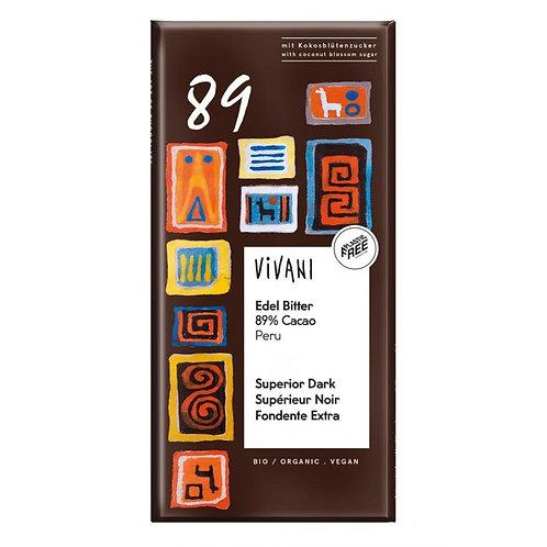 89% Superior Dark Chocolate 100g