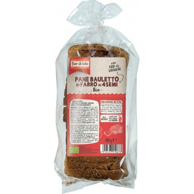 Sliced Spelt Loaf with 4 Seeds Fior Di Loto 400g