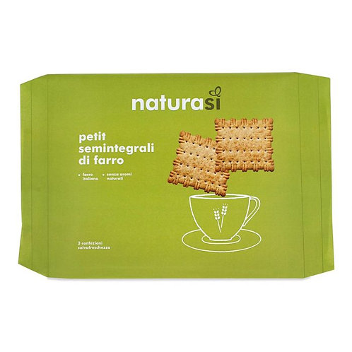 Semi-Wholemeal Spelt Biscuits 450g NaturaSi