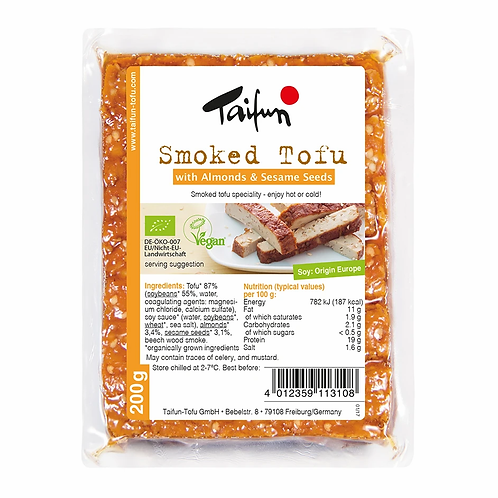 Smoked Tofu with Almond & Sesame Seeds 200g