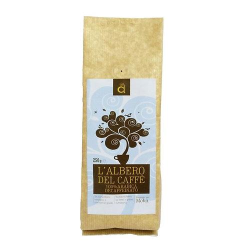 Decaffeinated Arabic Ground Coffee for Moka 250g L'Albero Del Caffe