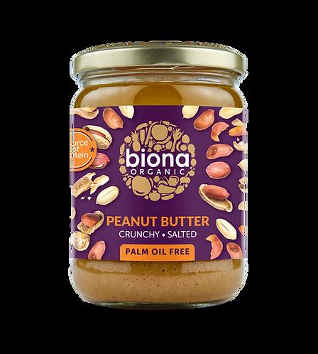Crunchy & Salted Peanut Butter 500g Biona