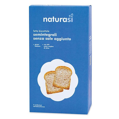 Semi Wholemeal Wheat Rusks without added Salt 400g NaturaSi