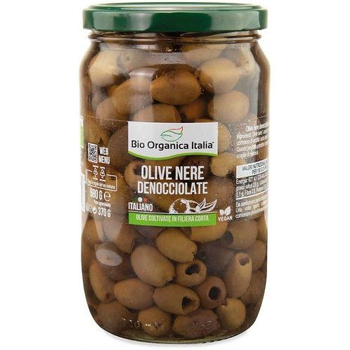 Pitted Black Olives in Brine 680g Bio Organica Italia