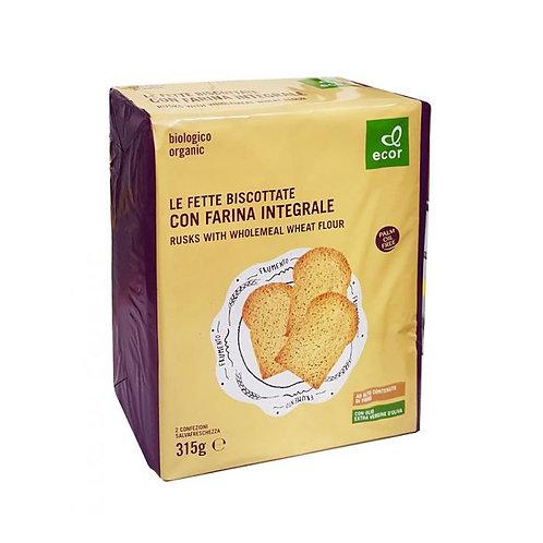 Wholemeal Wheat Flour Rusks 315g Ecor