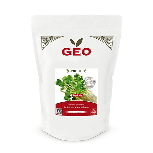 Radish Seeds for Sprouting 500g Geo