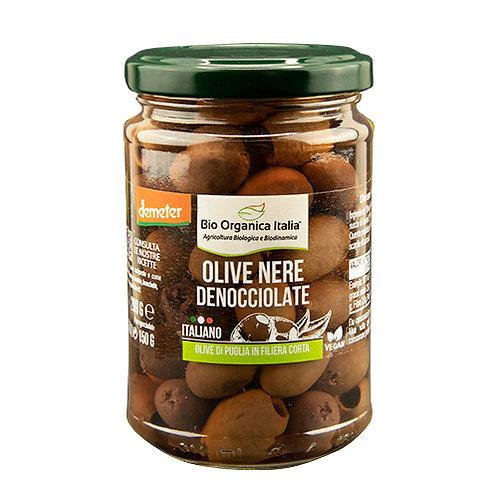 Pitted Black Olives in Brine 280g Bio Organica Italia