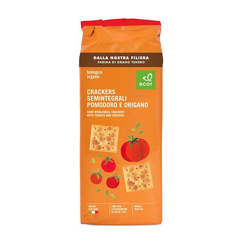 Semi-Wholemeal Wheat Crackers with Tomatoes & Oregano 250g Ecor