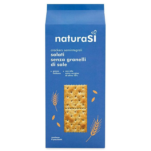 Semi-Wholemeal Wheat Crackers without Salt on Surface 250g NaturaSi