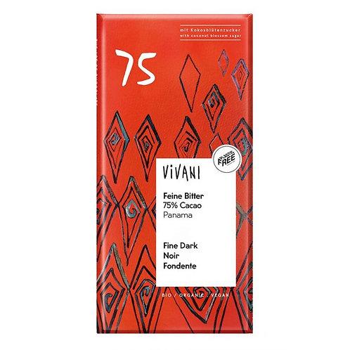 75% Dark Chocolate 100g Vivani