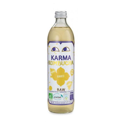 Kombucha Fermented Green Tea Drink With Ginger 500ml Karma