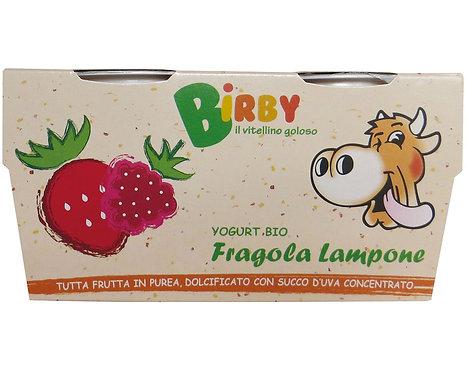 Birby Strawberry & Raspberry Yoghurt 115g x 2