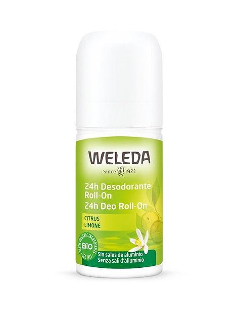 24hr Deodorant Roll-On Lemon 50ml Weleda