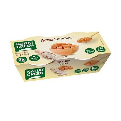 Rice Dessert with Caramel 2x125g Natur Green