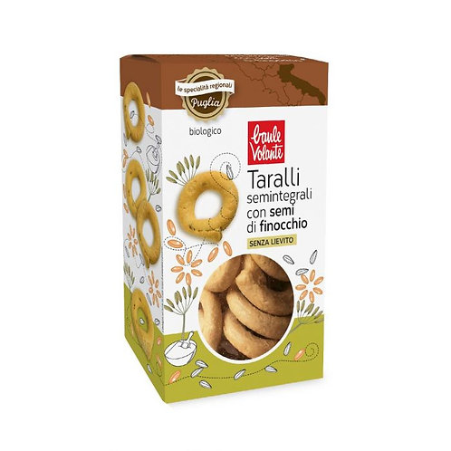 Semi-Wholemeal Wheat Taralli with Fennel Seeds 200g