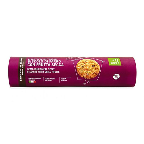 Semi-Wholemeal Spelt Biscuits with Dried Fruit 250g