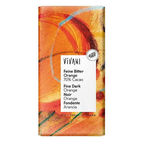 70% Fine Dark Orange Chocolate 100g