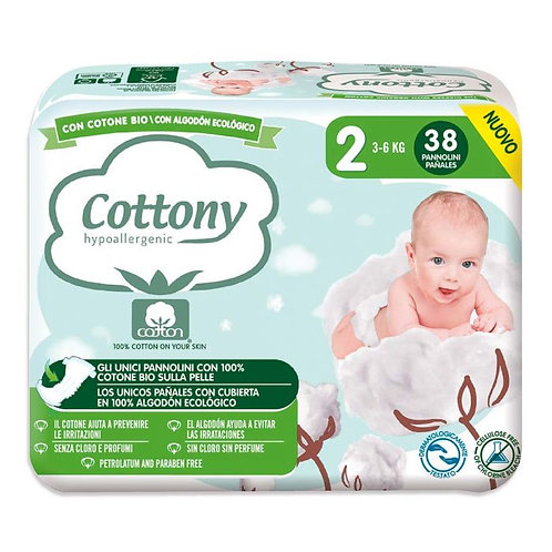 Cotton Diapers No.2 3-6kg x38