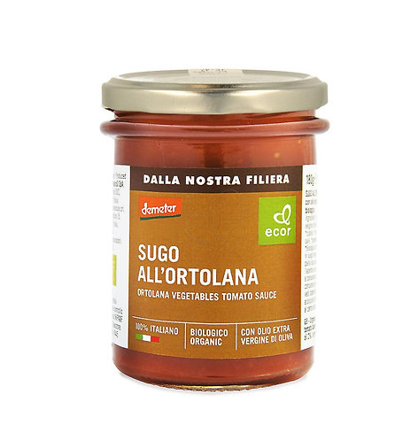 Ortolana Vegetables Tomato Sauce 180g