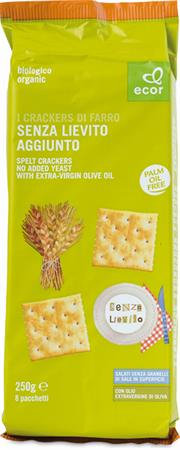 Spelt Crackers No Added Yeast & With Extra-Virgin Olive Oil