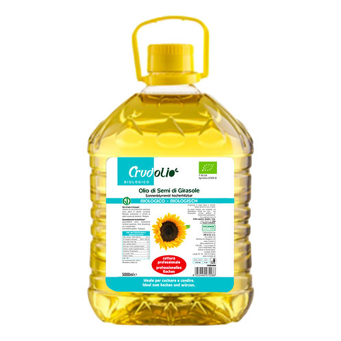 Deodorized Sunflower Seed Oil 5L Crudolio