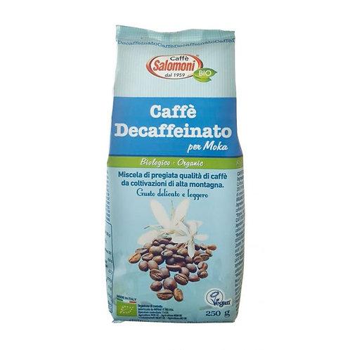 Decaffeinated Coffee for Moka 250g Caffe Salomoni