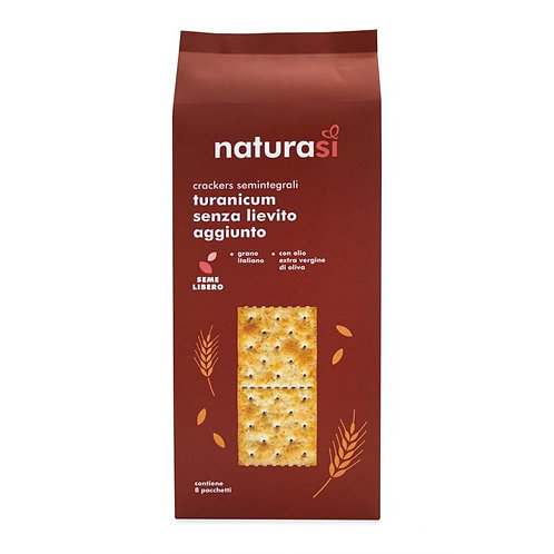 Triticum Turanicum Wheat Crackers With No Added Yeast 250g
