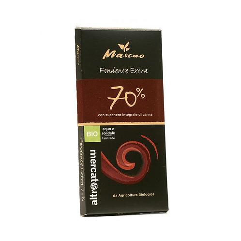 70% Extra Dark Mascao Chocolate 100g Altromercato