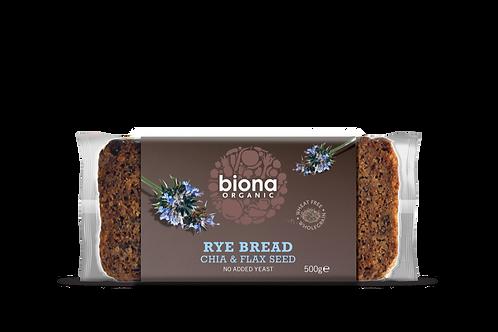 Rye Bread with Chia & Flax Seed Biona 500g