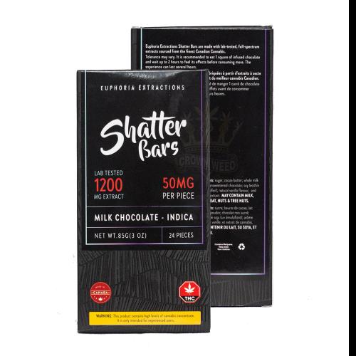 INDICA Chocolate Shatter Bar (1200mg THC)