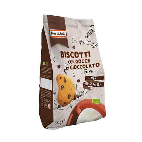 Wheat Shortbread Biscuits with Chocolate Drops 350g Fior di Loto