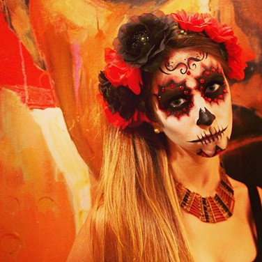 Day of the Dead Look Soft w/ Rhinestones